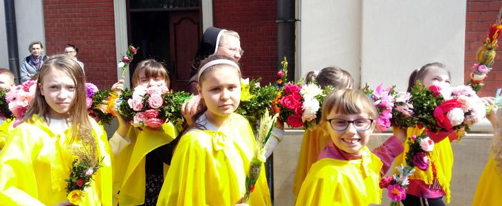 Msza św. dla dzieci w Niedzielę Palmową
