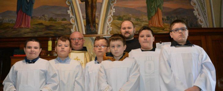 Przyjęcie nowych ministrantów do Liturgicznej Służby Ołtarza