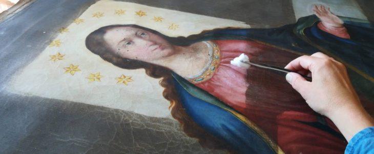 Renowacja obrazu Matki Bożej Niepokalanie Poczętej (faza I)